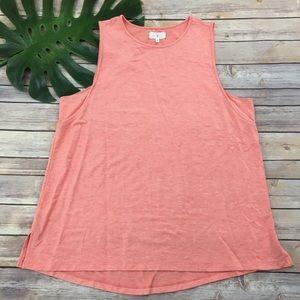 Lou & Grey coral orange lounge tank top